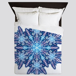 Snowflake Designs - 012 - transparent Queen Duvet