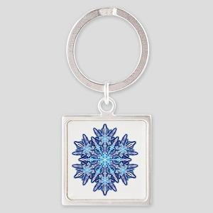 Snowflake Designs - 012 - transpar Square Keychain
