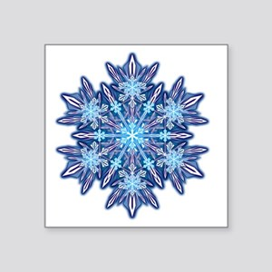 "Snowflake Designs - 012 - t Square Sticker 3"" x 3"""