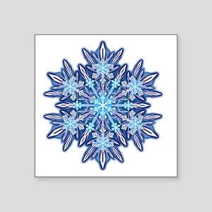 """Snowflake Designs - 012 - t Square Sticker 3"""" x 3"""""""