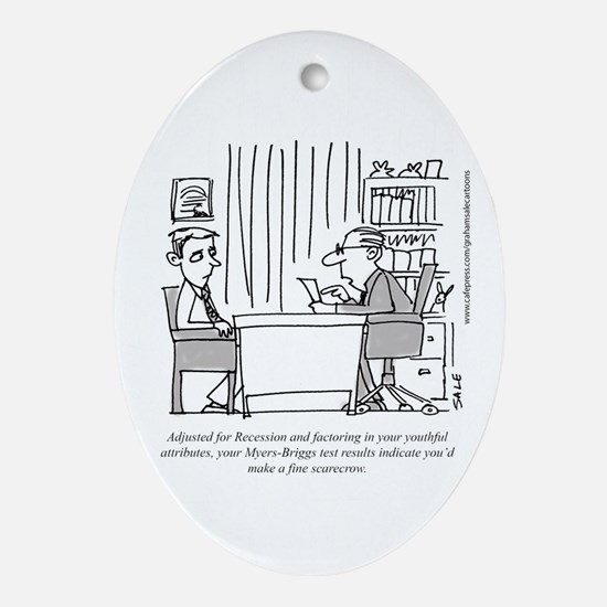 Myers_Briggs_Scarecrow Oval Ornament