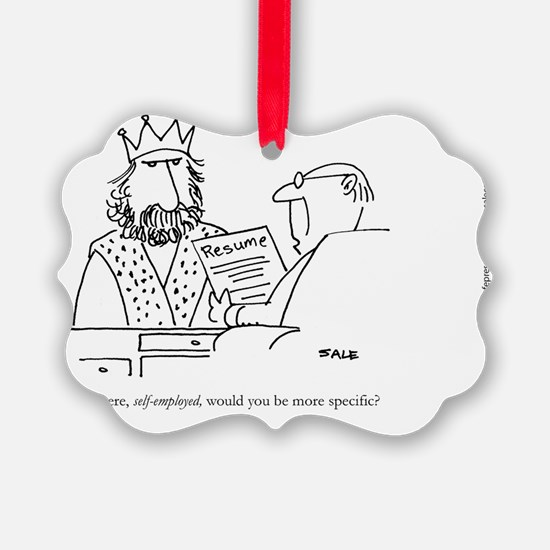 King Resume Ornament