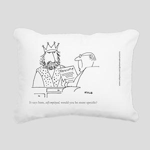 King Resume Rectangular Canvas Pillow