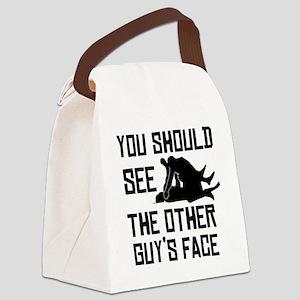 otherguysface Canvas Lunch Bag