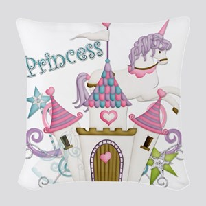 princess-plain copy Woven Throw Pillow