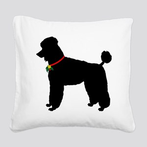 Poodle Christmas or Holiday S Square Canvas Pillow