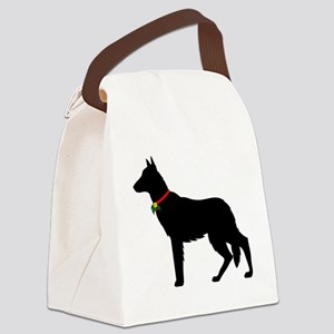 German Shepard Christmas or Holid Canvas Lunch Bag