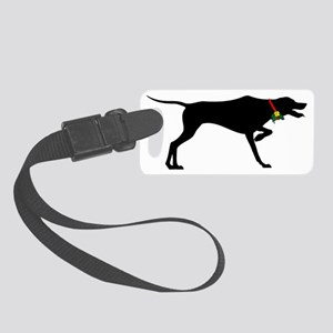 Pointer Christmas or Holiday Sil Small Luggage Tag
