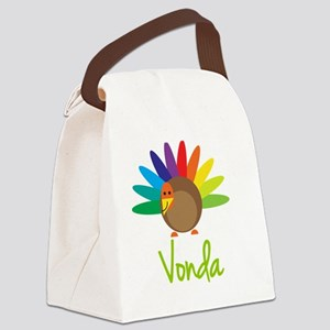 Vonda-the-turkey Canvas Lunch Bag