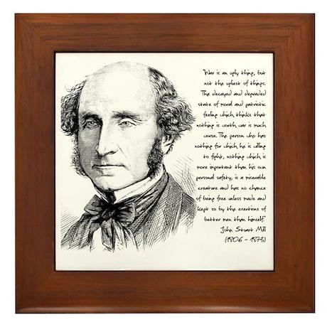 John Stuart Mill Framed Tile