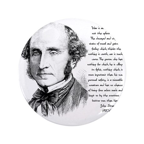 "John Stuart Mill 3.5"" Button"