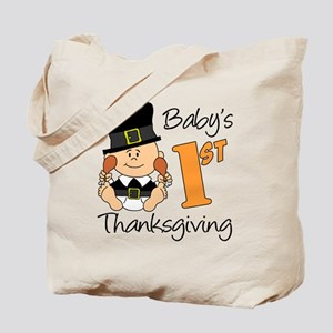 Babys First Thanksgiving Tote Bag