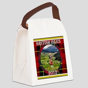 British Isles Cruise large plaid Canvas Lunch Bag