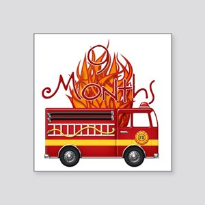 "Firetruck-9m copy Square Sticker 3"" x 3"""