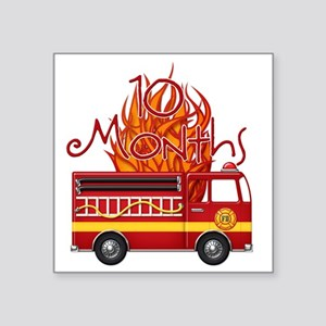 "Firetruck-10m copy Square Sticker 3"" x 3"""