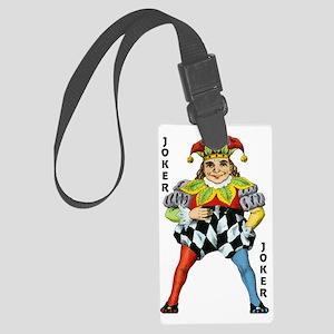 Vintage Court Jester Wacky Joker Large Luggage Tag