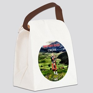 Heather in full bloom -round  for Canvas Lunch Bag