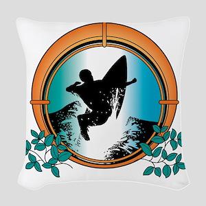 surf27 Woven Throw Pillow