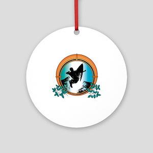 surf27 Round Ornament