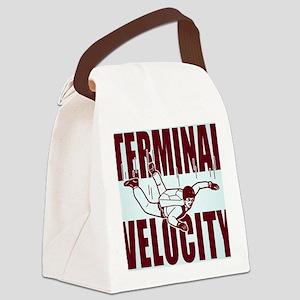 terminalvelocity_button Canvas Lunch Bag