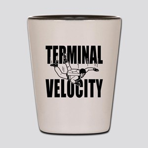 terminalvelocity_black Shot Glass