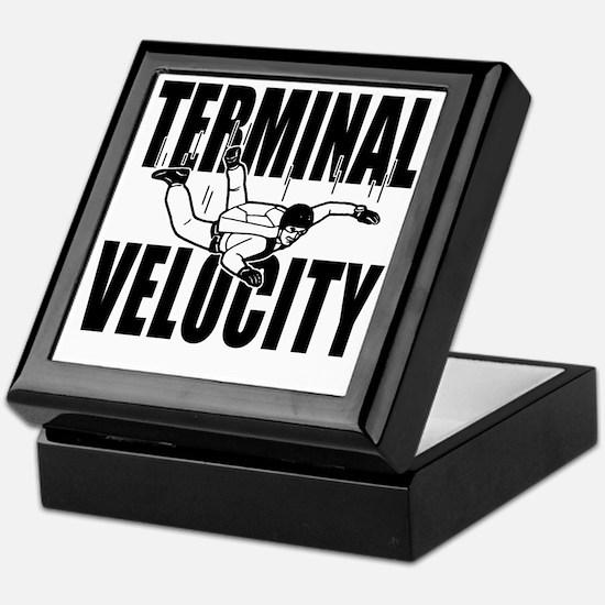 terminalvelocity_black Keepsake Box