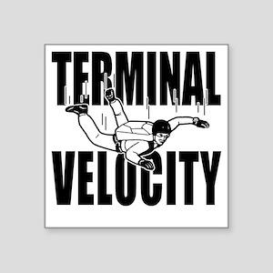 "terminalvelocity_black Square Sticker 3"" x 3"""