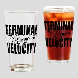 terminalvelocity_black Drinking Glass