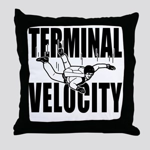terminalvelocity_black Throw Pillow