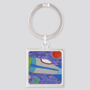 Day Dreamer Square Keychain