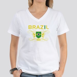 Brazil Women's V-Neck T-Shirt