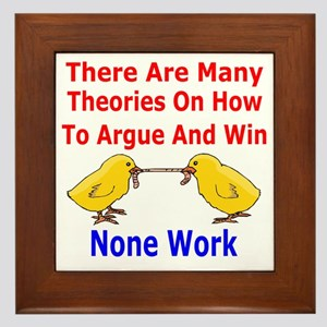 How To Argue And Win Framed Tile