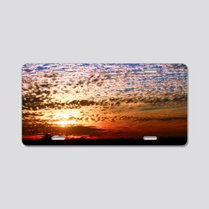 red-white-blue-sunset Aluminum License Plate