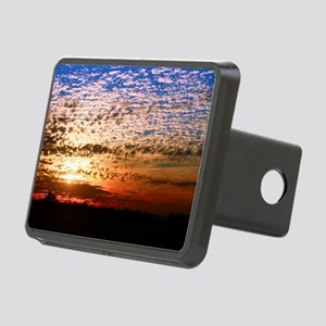 red-white-blue-sunset Rectangular Hitch Cover