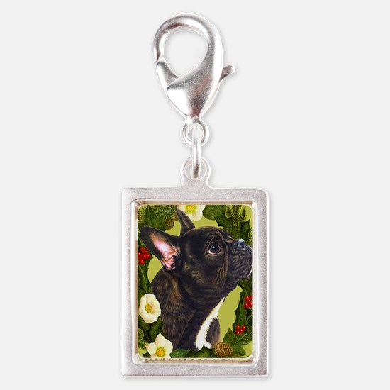 Seasonal French Bull Silver Portrait Charm