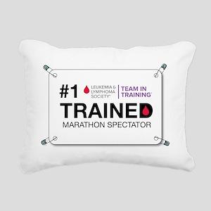 trained bib Rectangular Canvas Pillow