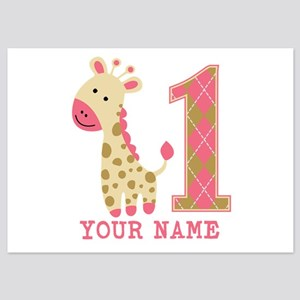 giraffe birthday invitations and announcements cafepress