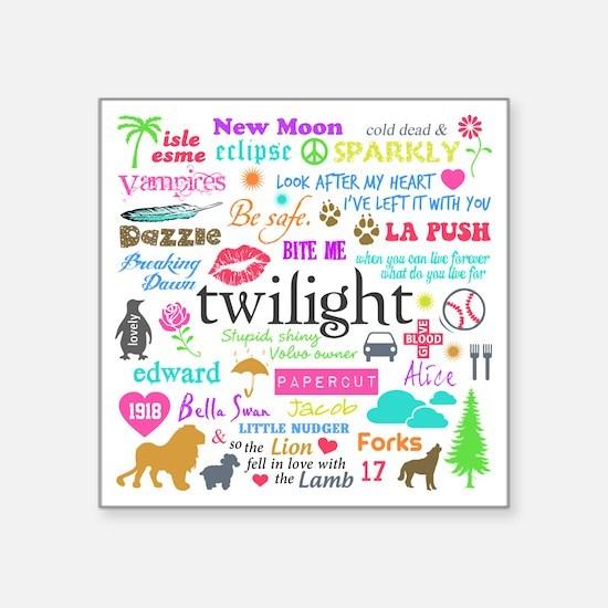 "TwiMem Pastel Square Sticker 3"" x 3"""