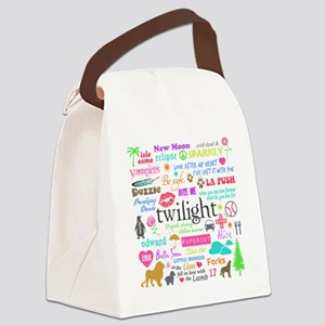 TwiMem Pastel Canvas Lunch Bag
