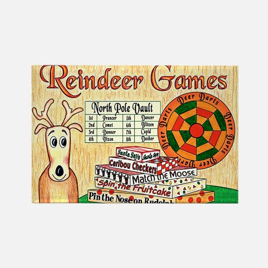 ReindeerGamesCP Rectangle Magnet