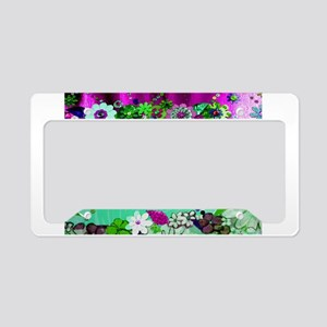 Artistic Sunshine and Flowers License Plate Holder