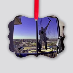 Window Washer004-Poster Picture Ornament