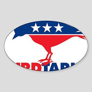 liBIRDtarian party Sticker (Oval)