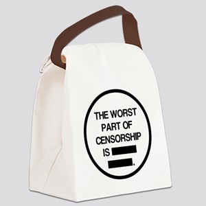 2000x2000theworstpartofcensorship Canvas Lunch Bag