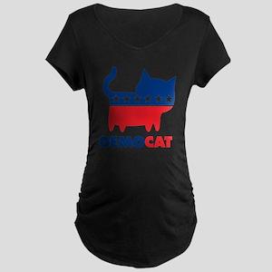 demoCAT party Maternity Dark T-Shirt