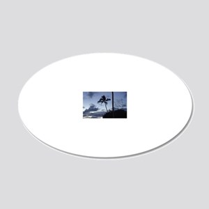 maui sunset puzzle 20x12 Oval Wall Decal