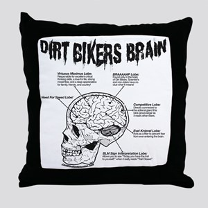 dirtbrain Throw Pillow