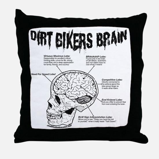 dirtbrain Throw Pillow