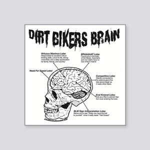 "dirtbrain Square Sticker 3"" x 3"""