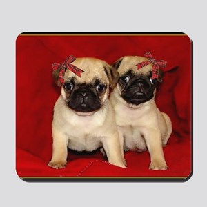 christmas pugs Mousepad
